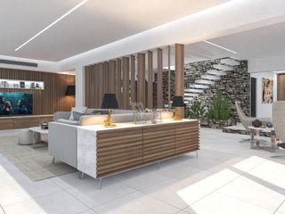 Interior Design Villa in Sicilia studiosagitair Ingresso, Corridoio & Scale in stile moderno