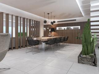 Interior Design Villa in Sicilia studiosagitair Sala da pranzo moderna