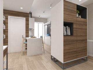 Ristrutturazione Abitazione studiosagitair Ingresso, Corridoio & Scale in stile moderno