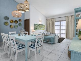 Arredo casa al mare in Brasile studiosagitair Sala da pranzo in stile mediterraneo