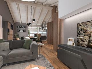 Progetto mansarda a Mantova studiosagitair Soggiorno moderno
