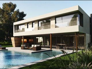 Casa Moderna Balcony Maximiliano Lago Arquitectura - Estudio Azteca Casas modernas: Ideas, imágenes y decoración