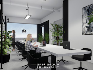 Reijn office ORTA VISUAL Ruang Studi/Kantor Minimalis
