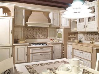 Cucina country chic vero legno Mobili a Colori Cucina attrezzata Legno massello Bianco