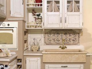 Cucina country chic vero legno Mobili a Colori Cucina attrezzata Legno massello Beige