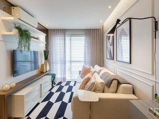Juliana Agner Arquitetura e Interiores Modern living room Grey