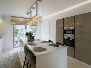 Marcotte Style Modern Kitchen Marble White
