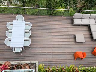 THE muebles Balkon, Beranda & Teras Minimalis Multicolored