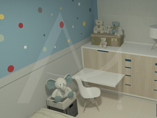 Anny Maciel Interiores - Casa Cor de Riso Nursery/kid's roomWardrobes & closets MDF