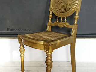 Maisondora Vintage Living KleedkamerZitmeubelen Hout Amber / Goud