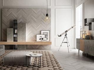 Zona giorno, il ritorno del living. L&M design di Marelli Cinzia Sala da pranzo moderna