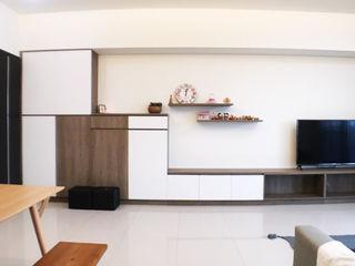 心向刻築 - 台中北屯新成屋現代簡約風 台中室內設計裝修 心之所向設計美學工作室 牆面