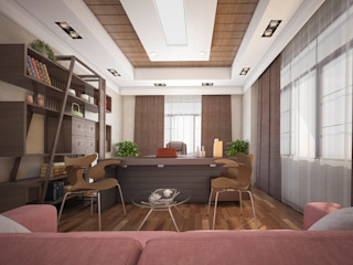 Mohannd design studio Eclectic style study/office