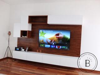 Bombilla Taller de diseño リビングルームTV台&キャビネット 木材・プラスチック複合ボード 木目調