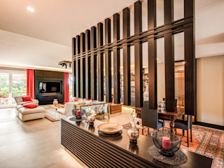 MOB ARCHITECTS Asian style living room