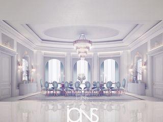 Dining Room Interior Design ala Grisaille Technique IONS DESIGN Minimalist dining room Marble Multicolored