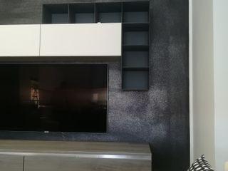 ArchitetturaTerapia® 现代客厅設計點子、靈感 & 圖片 塑木複合材料 Grey