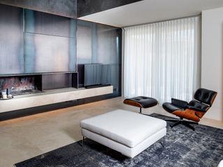 Villa con lucernario Fabricamus - Architettura e Ingegneria Soggiorno minimalista