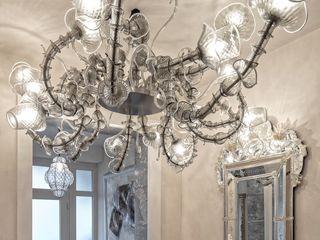Villa in Franciacorta MULTIFORME® lighting Couloir, entrée, escaliers classiques