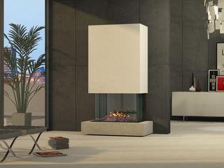 muenkel design - Elektrokamine aus Großentaft Salas multimedia de estilo moderno