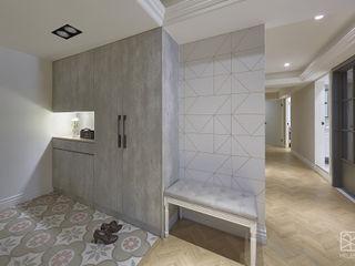 台中 - 法式鄉村 禾廊室內設計 經典風格的走廊,走廊和樓梯