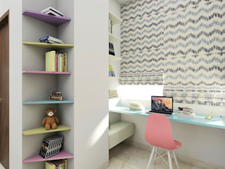 Tanish Dzignz Modern style bedroom Multicolored