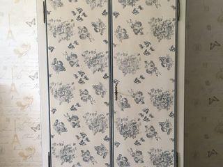 Armadio provenzale 2 ante decorato a mano Mobili a Colori Camera da letto piccola Legno Bianco