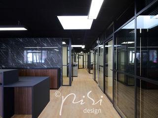 Ristrutturazione e design di uno studio notarile nella regione di Parigi. Alessandra Pisi / Pisi Design Architetti Complesso d'uffici moderni Vetro Nero