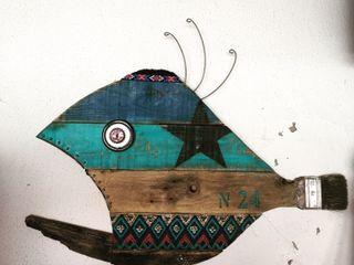 Artigos de Decoração Artesanais em madeira reciclada II Officina Boarotto ArteEsculturas