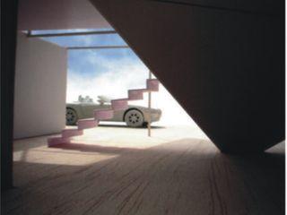 AGE/Alejandro Gaona Estudio Garajes abiertos Derivados de madera Blanco