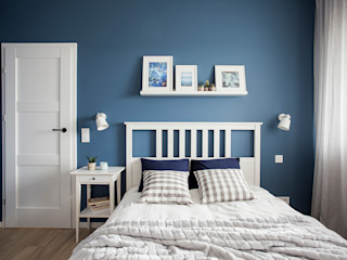 Perfect Space Scandinavian style bedroom Blue