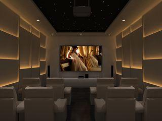 De Panache - Interior Architects Modern style media rooms