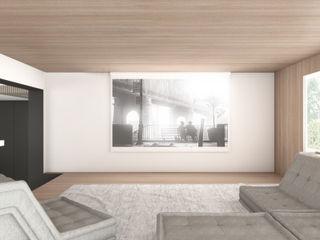 Villa DC DFG Architetti Associati Sala multimediale moderna
