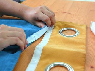 高彩度的自在居家,讓窗簾也能營造主色調|Donzu 拼色布簾.布簾 / 門簾 / 隔間簾 || Donzu - Assorted Colors Curtain.DIY Installation MSBT 幔室布緹 嬰兒/兒童房裝飾品 亞麻織品 Amber/Gold