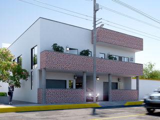 FASETIK arquitectura Single family home Bricks White