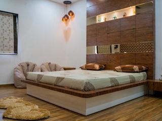 Nabh Design & Associates Quartos modernos contraplacado Preto