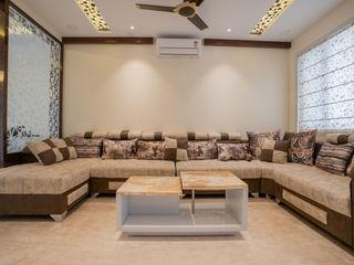 Nabh Design & Associates Salas de estar modernas Mármore Bege