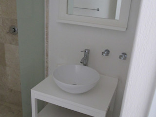 MADAN Arquitectos Minimalist Banyo Ahşap Beyaz