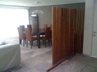 MADAN Arquitectos 모던스타일 복도, 현관 & 계단 대리석 우드 그레인