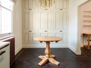 Full refurbishment of apartment in Kensington Prestige Architects By Marco Braghiroli Modern dining room