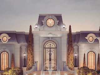 Luxurious Home Design Collection : Majestic Mansion in French Architecture Style IONS DESIGN Classic style gardens Stone Multicolored