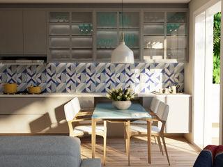 Elaine Hormann Architecture Dining roomTables Glass Blue