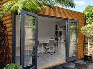 Linea Contemporary Garden Office Garden Affairs Ltd Modern garage/shed Wood Wood effect