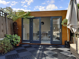 Linea Contemporary Garden Office Garden Affairs Ltd Modern garage/shed