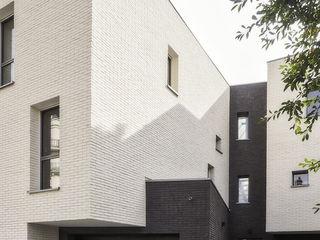 Fabrice Commercon 일세대용 주택 벽돌 검정