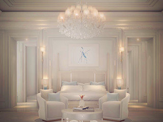 Pastel Themed Bedroom Interior Designing IONS DESIGN Minimalist bedroom Marble White