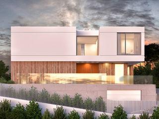 CASA RP1 - Moradia em Oeiras - Projeto de Arquitetura Traçado Regulador. Lda Moradias Granito Branco