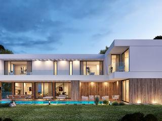 CASA RP1 - Moradia em Oeiras - Projeto de Arquitetura Traçado Regulador. Lda Habitações multifamiliares Madeira Branco
