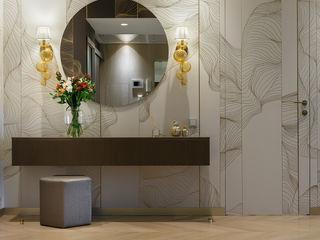 """""""La Dolce Vita"""" Appartment in Saint Petersburg MULTIFORME® lighting Couloir, entrée, escaliersEclairage Verre Ambre/Or"""