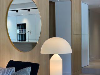 Rénovation d'un appartement à Lyon CUBIK architecture Salon moderne